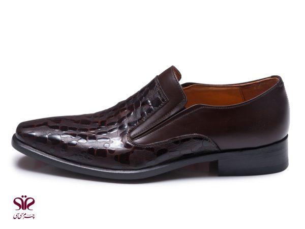 کفش چرم مجلسی شیک مردانه مدل مادرید