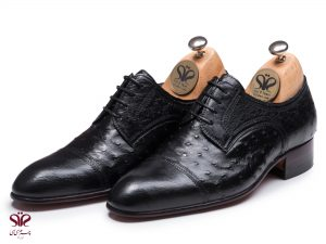 کفش چرم مردانه مدل رامتین