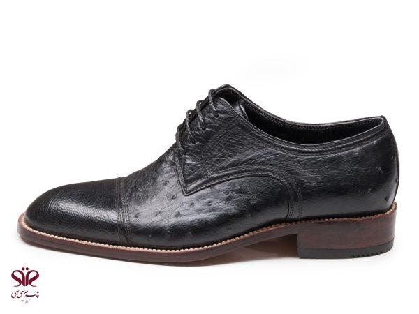 کفش مردانه چرم شترمرغ مدل ماتیا