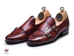 کفش چرم مردانه مدل ماریو پلاس