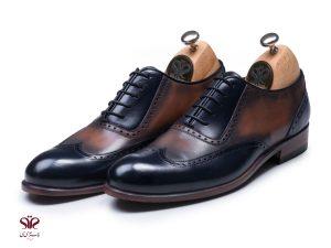 کفش مردانه چرم دستدوز مدل لیدر پلاس